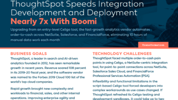 ThoughtSpot Speeds Integration Development and Deployment Nearly 7x With Boomi
